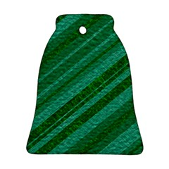 Stripes Course Texture Background Bell Ornament (two Sides)