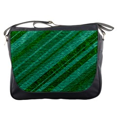Stripes Course Texture Background Messenger Bags