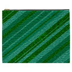 Stripes Course Texture Background Cosmetic Bag (xxxl)