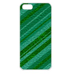 Stripes Course Texture Background Apple Iphone 5 Seamless Case (white)