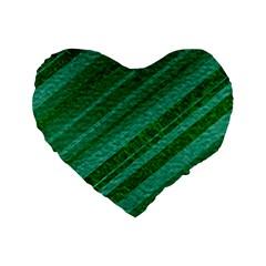 Stripes Course Texture Background Standard 16  Premium Heart Shape Cushions