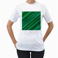 Stripes Course Texture Background Women s T Shirt (white)