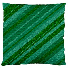 Stripes Course Texture Background Large Flano Cushion Case (One Side)