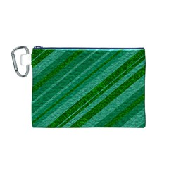 Stripes Course Texture Background Canvas Cosmetic Bag (M)