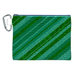 Stripes Course Texture Background Canvas Cosmetic Bag (xxl)