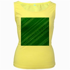 Stripes Course Texture Background Women s Yellow Tank Top
