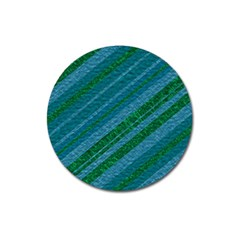 Stripes Course Texture Background Magnet 3  (Round)