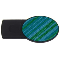 Stripes Course Texture Background USB Flash Drive Oval (2 GB)