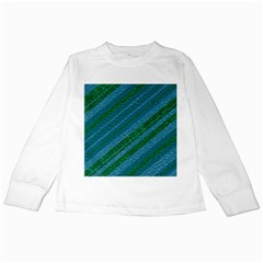 Stripes Course Texture Background Kids Long Sleeve T-Shirts