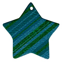 Stripes Course Texture Background Star Ornament (Two Sides)