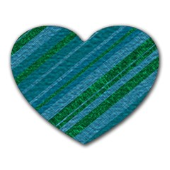 Stripes Course Texture Background Heart Mousepads