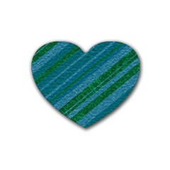 Stripes Course Texture Background Heart Coaster (4 Pack)