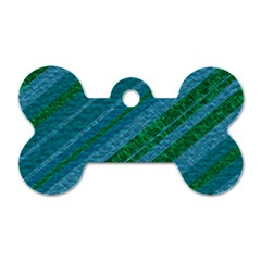 Stripes Course Texture Background Dog Tag Bone (two Sides)