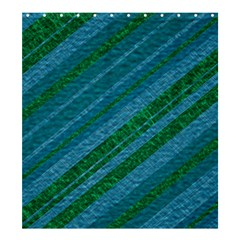 Stripes Course Texture Background Shower Curtain 66  x 72  (Large)