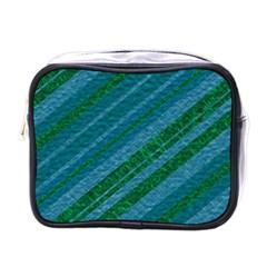 Stripes Course Texture Background Mini Toiletries Bags