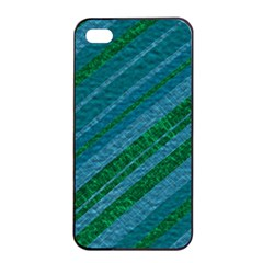 Stripes Course Texture Background Apple iPhone 4/4s Seamless Case (Black)