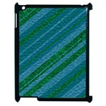 Stripes Course Texture Background Apple iPad 2 Case (Black) Front