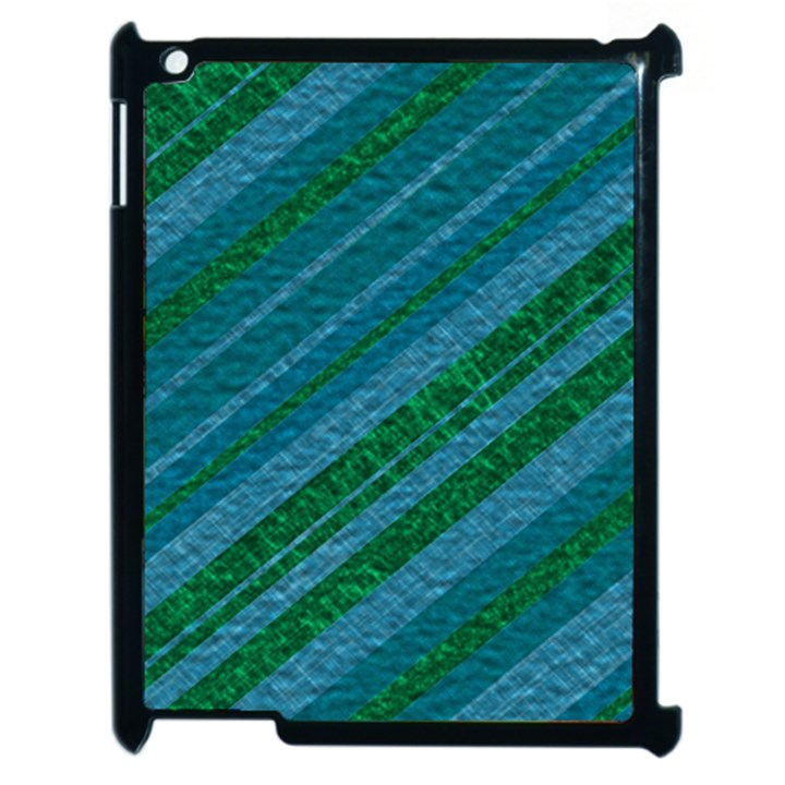 Stripes Course Texture Background Apple iPad 2 Case (Black)