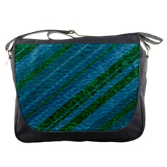Stripes Course Texture Background Messenger Bags
