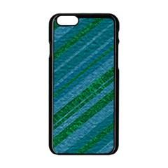 Stripes Course Texture Background Apple iPhone 6/6S Black Enamel Case