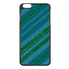 Stripes Course Texture Background Apple Iphone 6 Plus/6s Plus Black Enamel Case