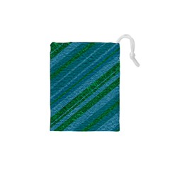 Stripes Course Texture Background Drawstring Pouches (xs)