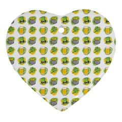 St Patrick S Day Background Symbols Ornament (Heart)