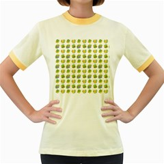 St Patrick S Day Background Symbols Women s Fitted Ringer T-Shirts