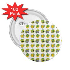 St Patrick S Day Background Symbols 2 25  Buttons (100 Pack)