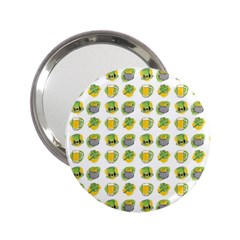 St Patrick S Day Background Symbols 2 25  Handbag Mirrors