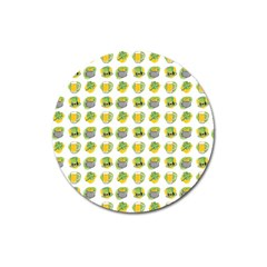 St Patrick S Day Background Symbols Magnet 3  (Round)