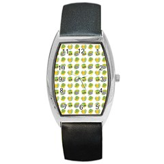 St Patrick S Day Background Symbols Barrel Style Metal Watch
