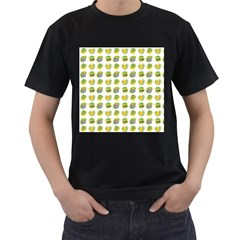 St Patrick S Day Background Symbols Men s T-Shirt (Black) (Two Sided)