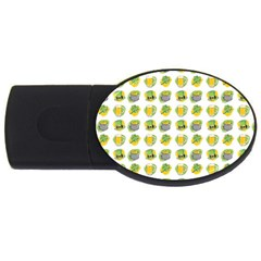 St Patrick S Day Background Symbols USB Flash Drive Oval (4 GB)