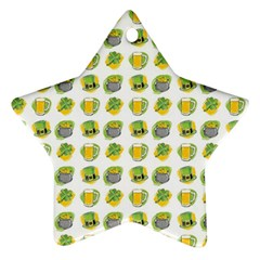 St Patrick S Day Background Symbols Star Ornament (two Sides)