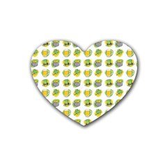 St Patrick S Day Background Symbols Rubber Coaster (heart)