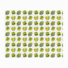 St Patrick S Day Background Symbols Small Glasses Cloth (2 Side)