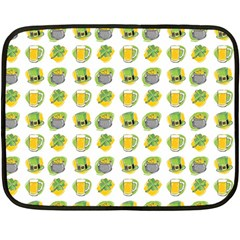 St Patrick S Day Background Symbols Fleece Blanket (Mini)