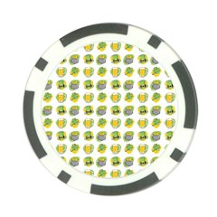 St Patrick S Day Background Symbols Poker Chip Card Guard (10 Pack)