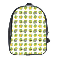 St Patrick S Day Background Symbols School Bags(Large)