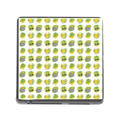 St Patrick S Day Background Symbols Memory Card Reader (Square)