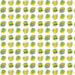 St Patrick S Day Background Symbols Magic Photo Cubes