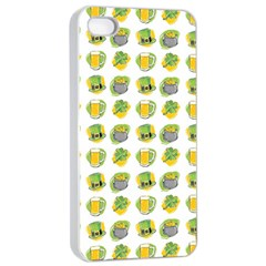 St Patrick S Day Background Symbols Apple Iphone 4/4s Seamless Case (white)