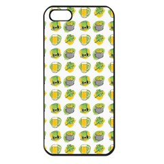 St Patrick S Day Background Symbols Apple iPhone 5 Seamless Case (Black)