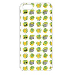 St Patrick S Day Background Symbols Apple iPhone 5 Seamless Case (White)