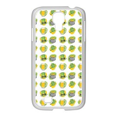 St Patrick S Day Background Symbols Samsung Galaxy S4 I9500/ I9505 Case (white)