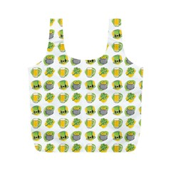 St Patrick S Day Background Symbols Full Print Recycle Bags (M)