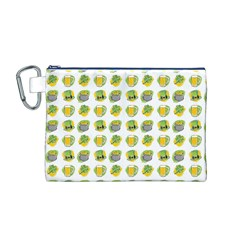 St Patrick S Day Background Symbols Canvas Cosmetic Bag (M)