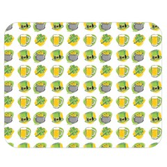St Patrick S Day Background Symbols Double Sided Flano Blanket (Medium)