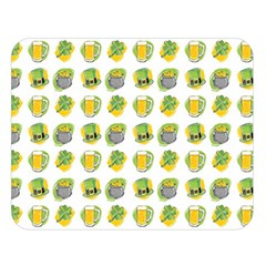 St Patrick S Day Background Symbols Double Sided Flano Blanket (Large)